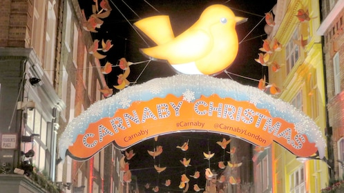 Carnaby Christmas sign in London
