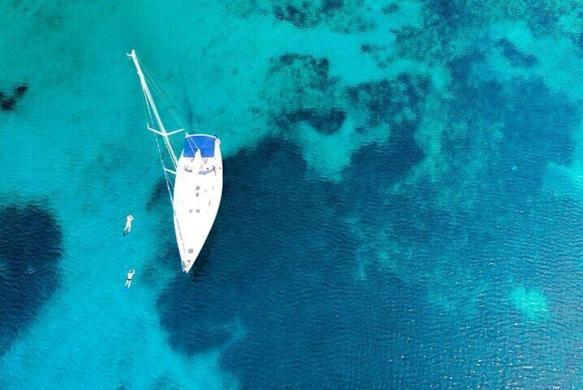 A full day sailing on a sailing yacht from Paros to the Small Cyclades