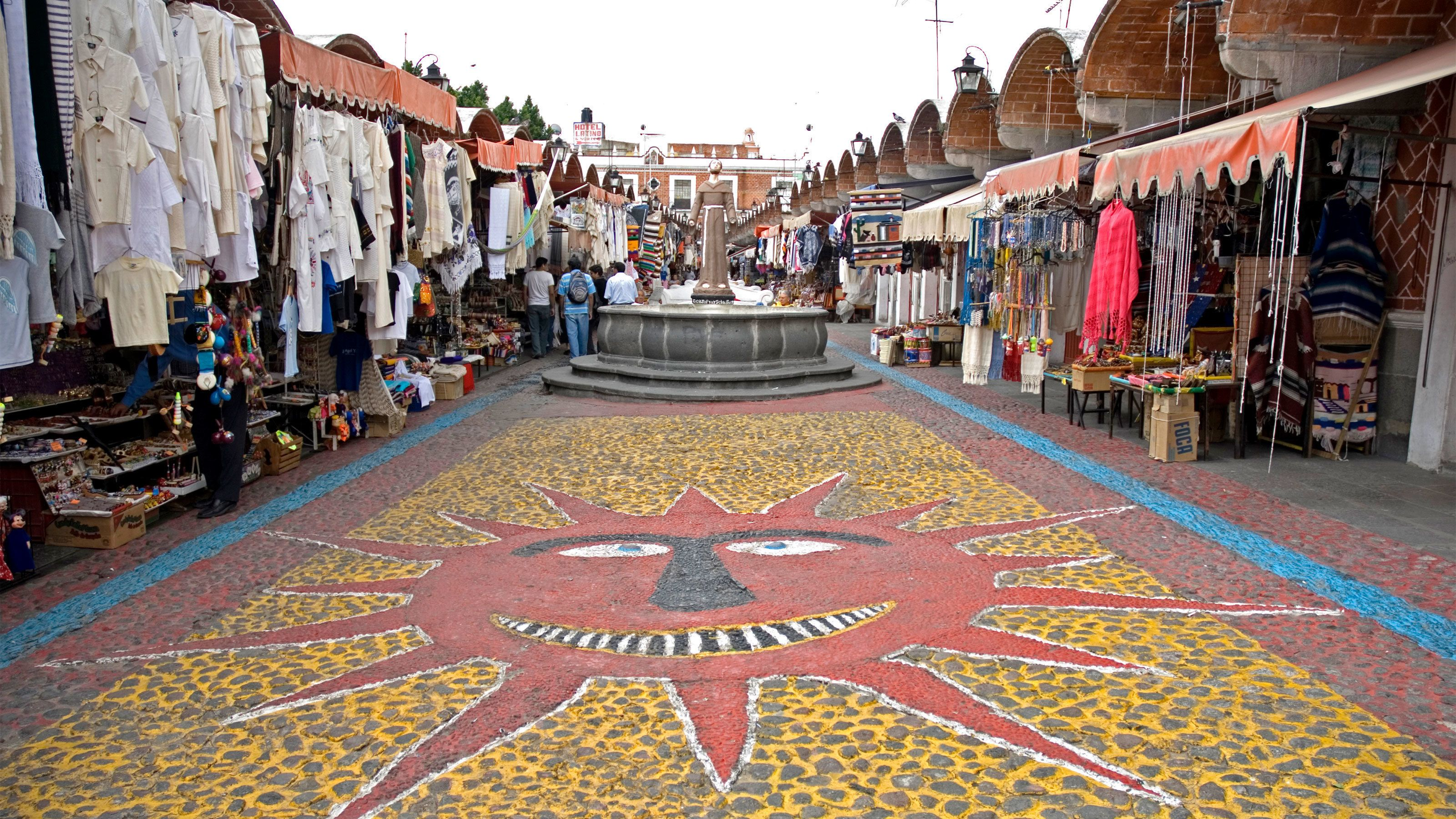 Street view of Puebla