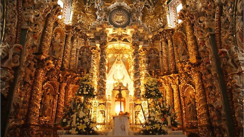 View inside a church in Puebla