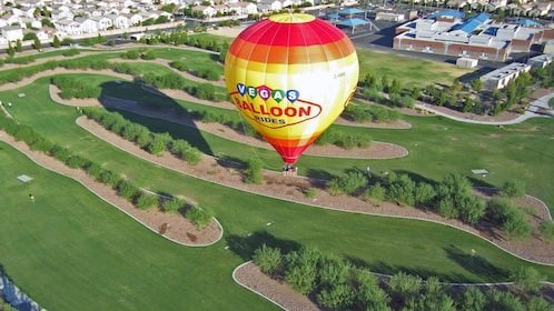 View of golf course on Vegas Balloon ride in Las Vegas