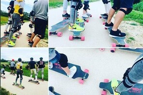 Guided ride in electric skate
