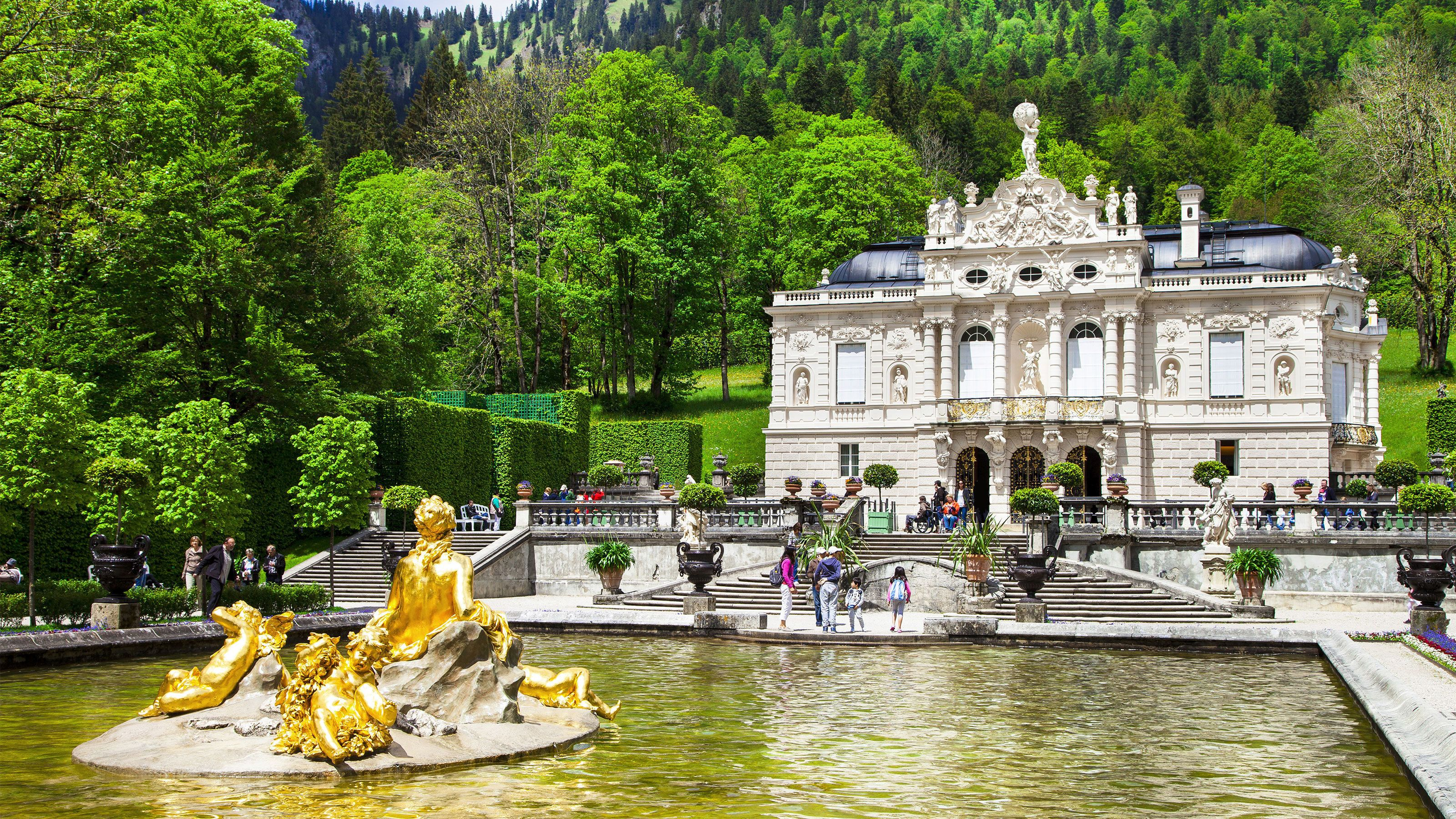 Linderhof Palace a palace in Ettal, Germany
