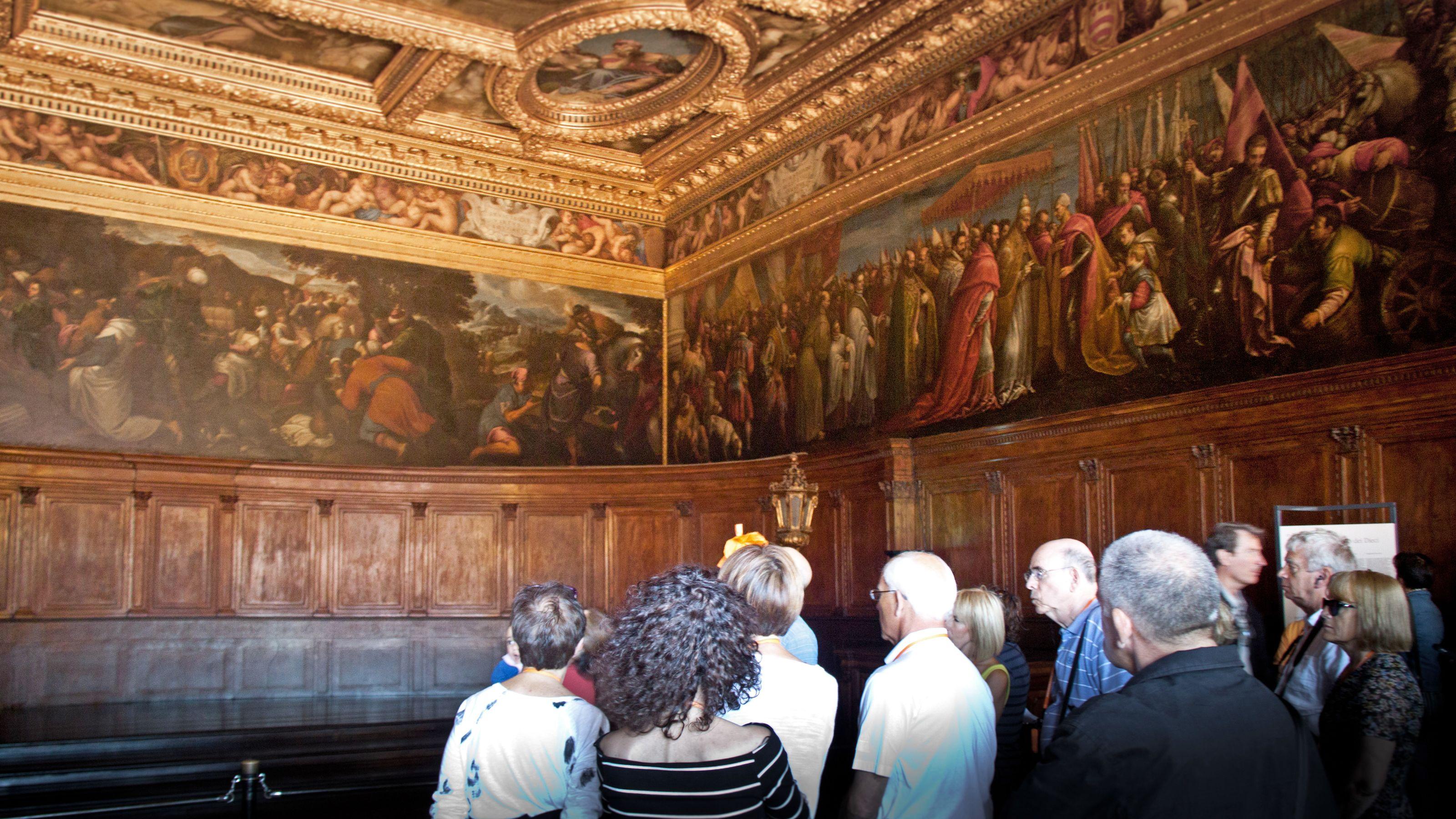 Interior art in Saint Mark's Basilica in Venice Italy