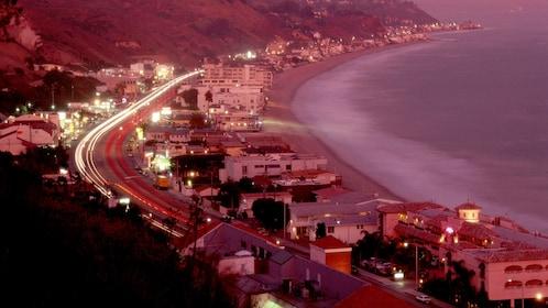 Los Angeles coastline at sunset