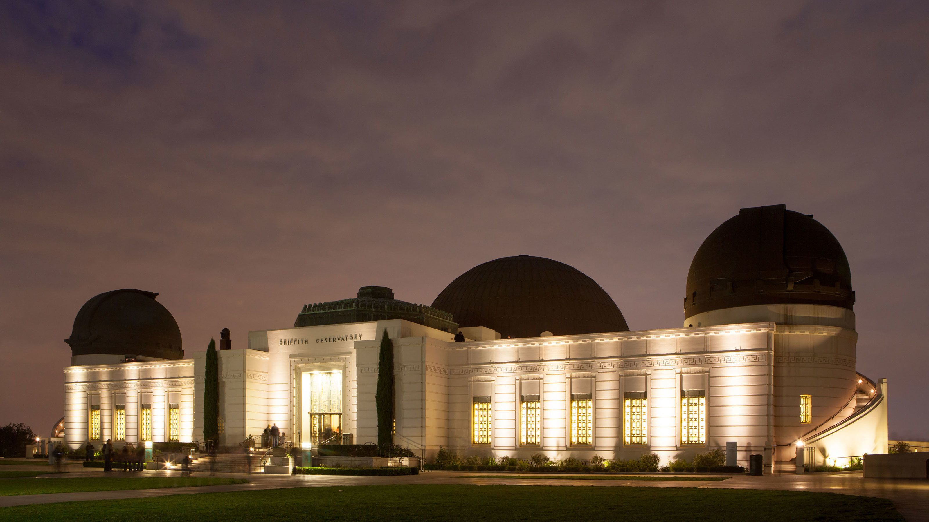 The Griffith Observatory at night in Los Angeles