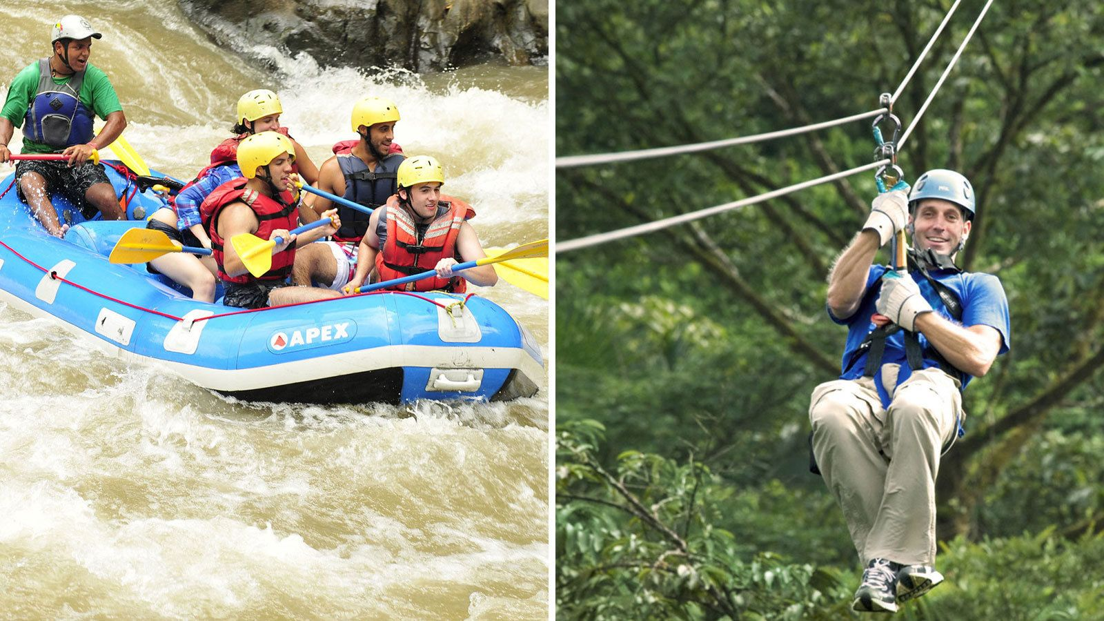 White Water Rafting and Canopy