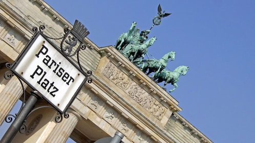 patina horse statues in berlin