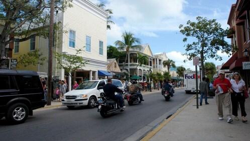 Sunny street in Key West