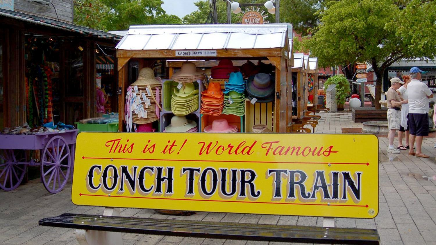 Bench for the Conch Tour Train
