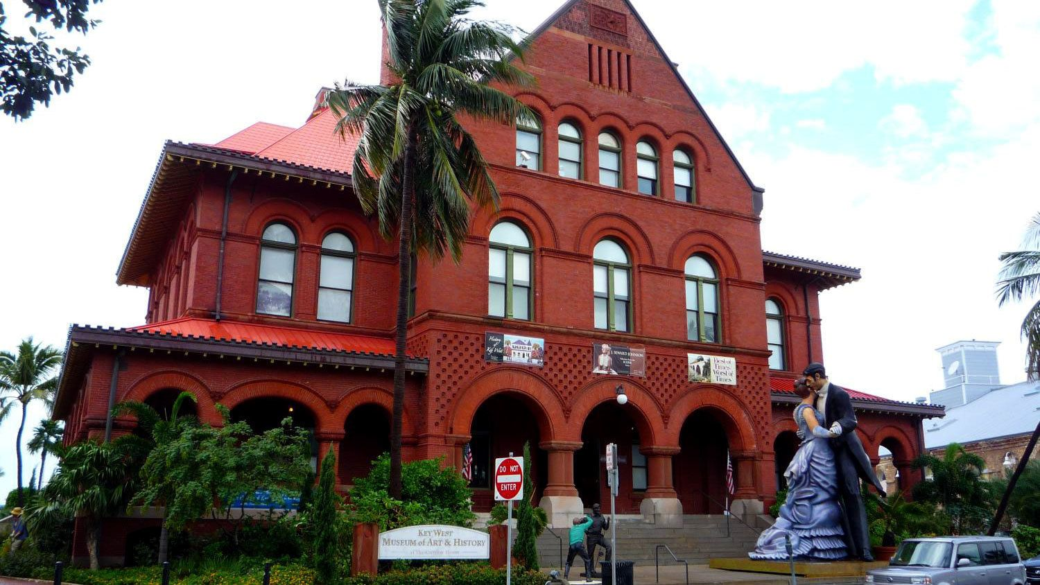 Outside the Key West Museum of Art and History