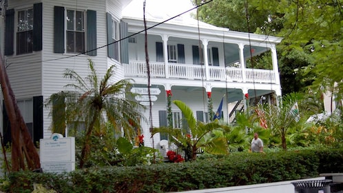 Outside a historic home in Key West