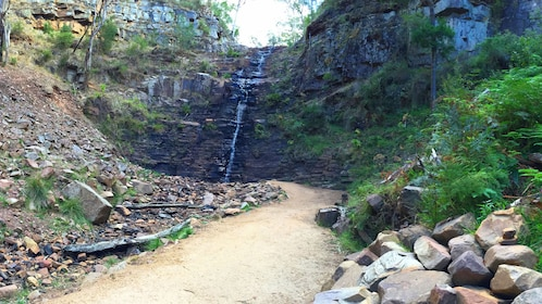 Small waterfall at the end of trail in Melbourne
