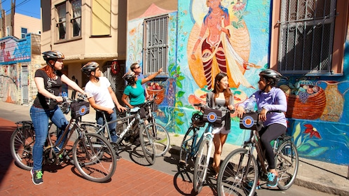 Group of people riding bikes in San Francisco