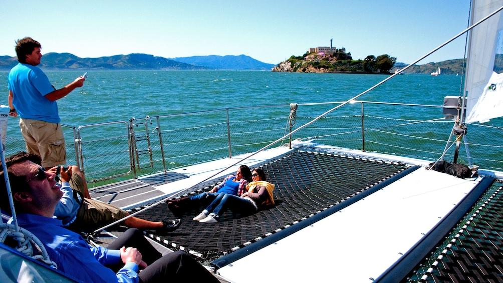 Show item 2 of 10. Boat near island in San Francisco
