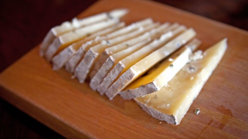 Mission district cheese samples in San Francisco