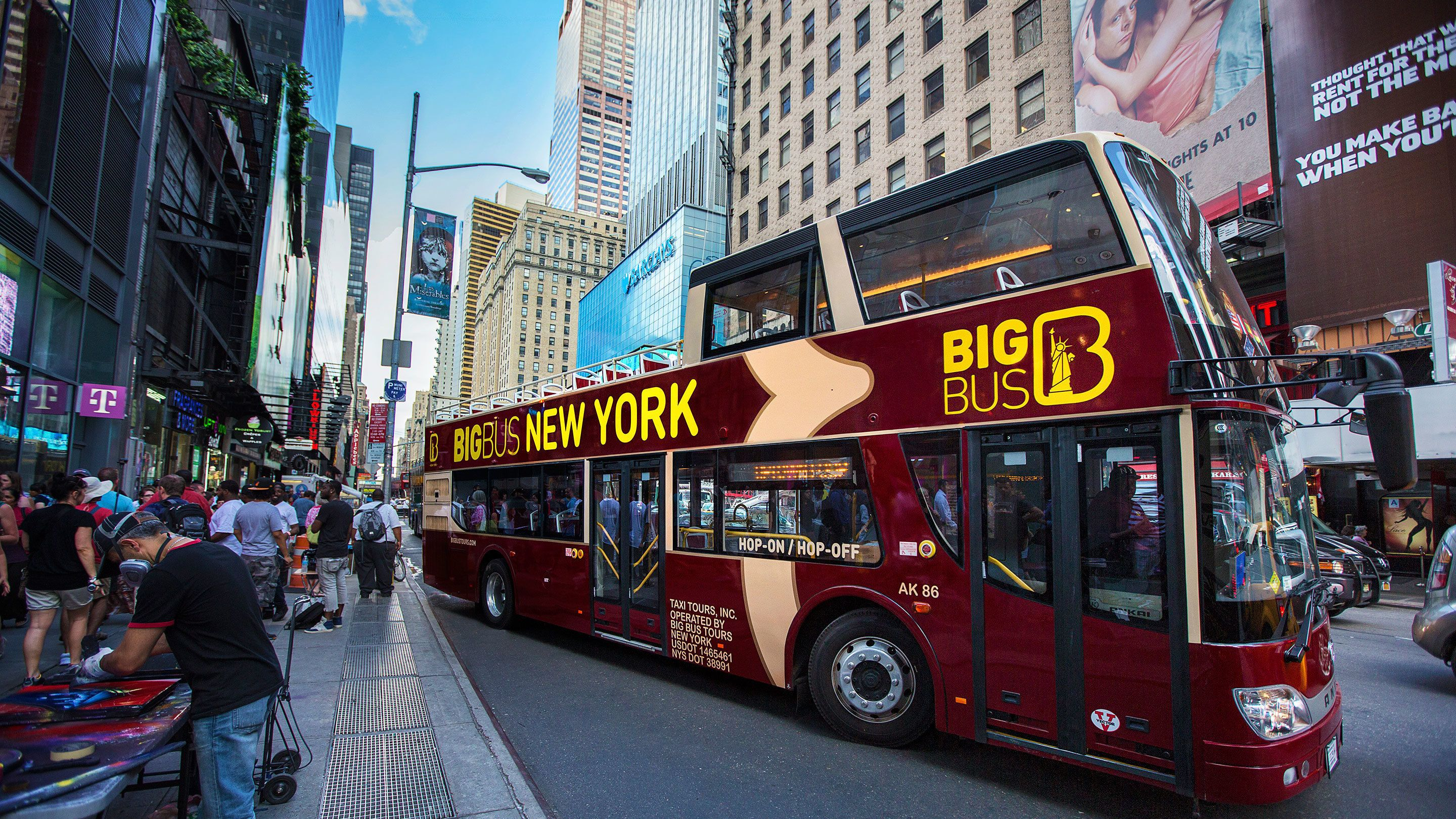 Hop-on, hop-off-bustour door New York