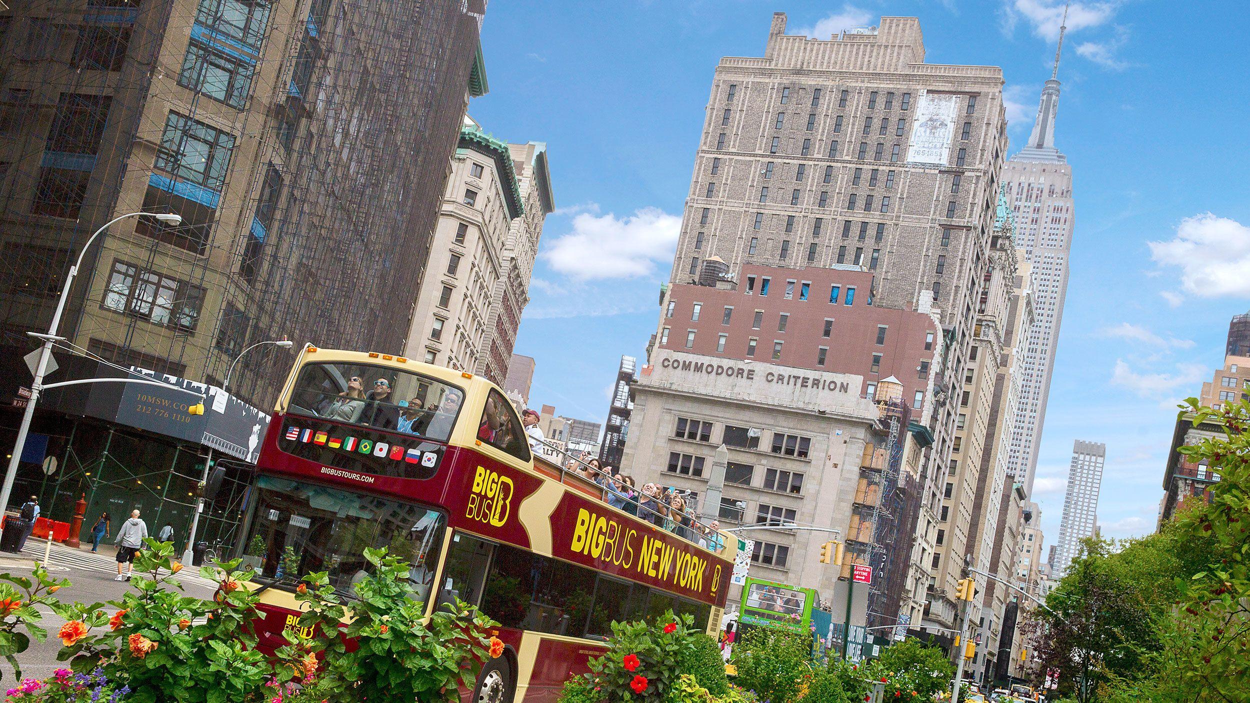 Double decker bus in New York City