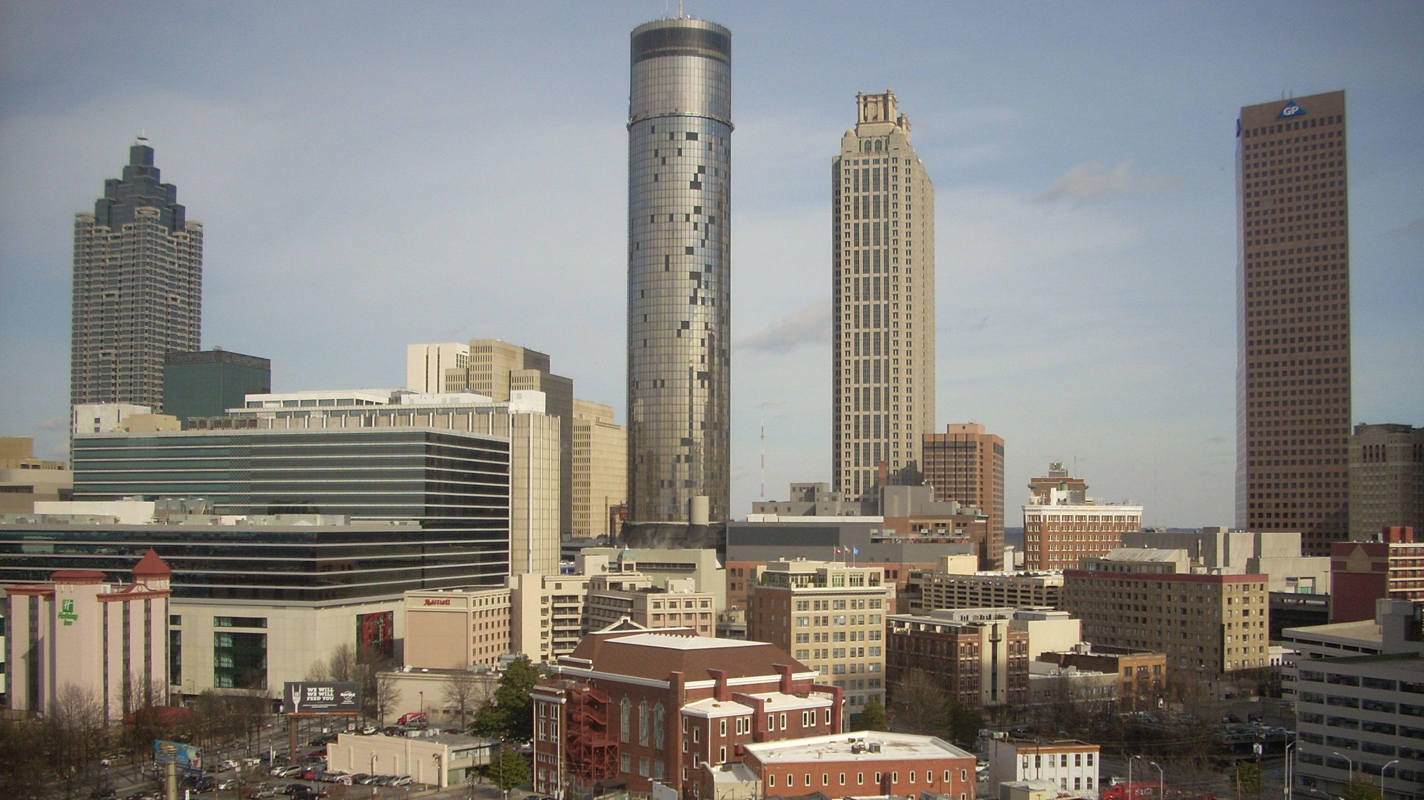 Skyline of Atlanta Georgia in the afternoon