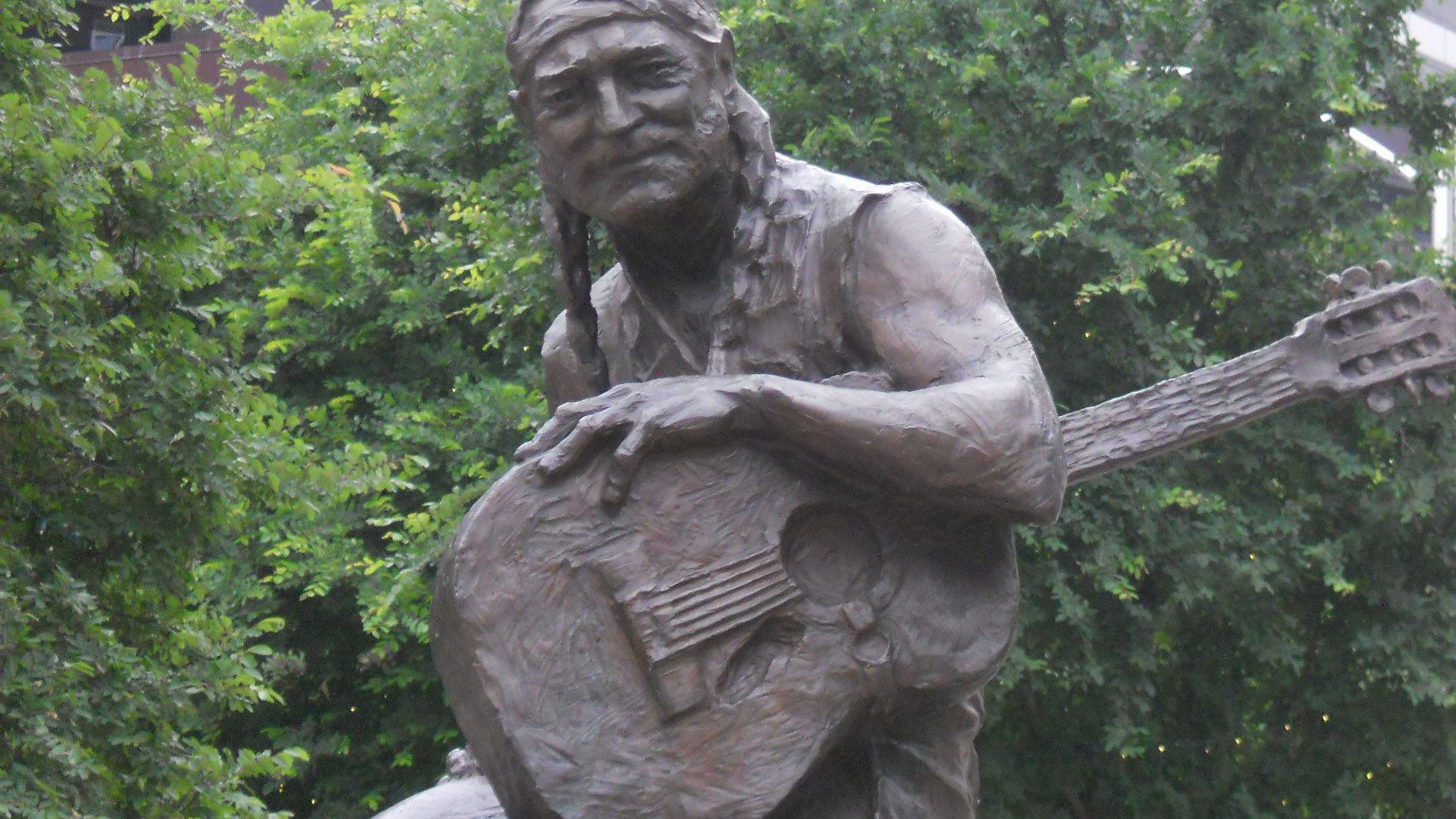 Statue of legendary musician, Willie Nelson, native of Austin, Texas