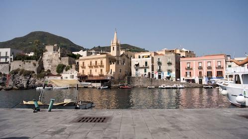 The quiet harbor of Marina Corta in Lipari