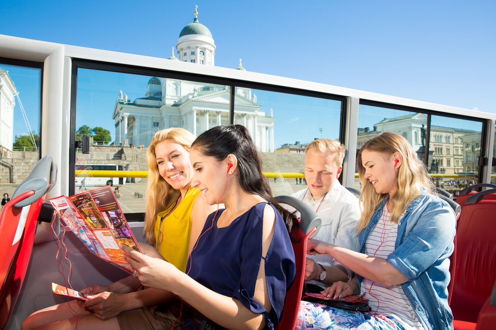 Tur med sightseeingbuss i Helsinki