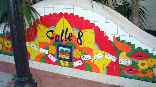 Colorful tile mosaic in Miami