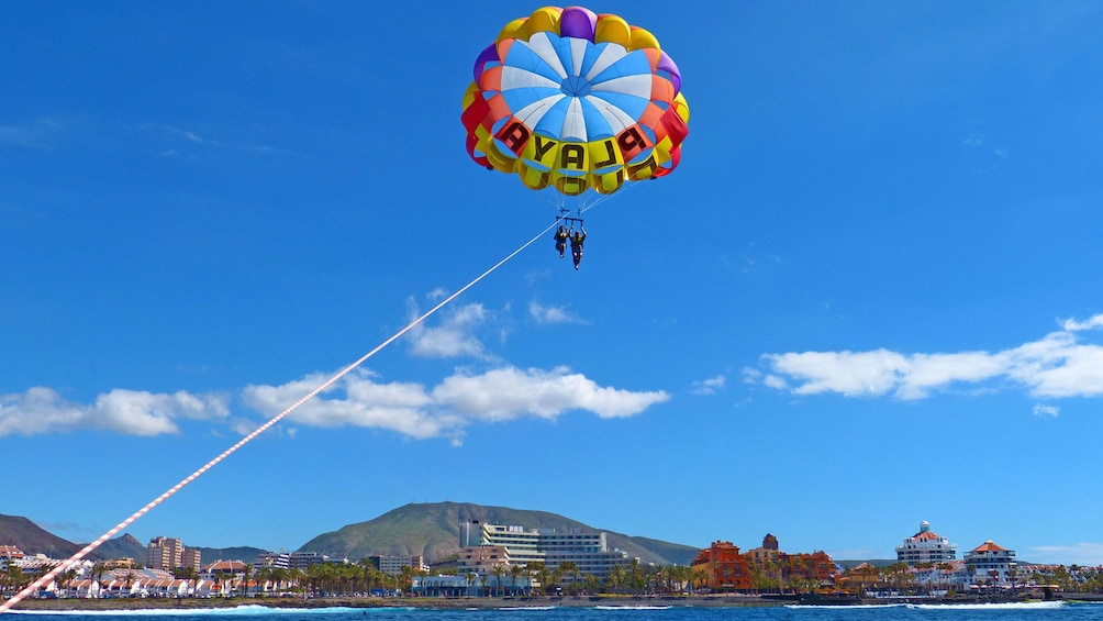Perfect day for parascending in Spain