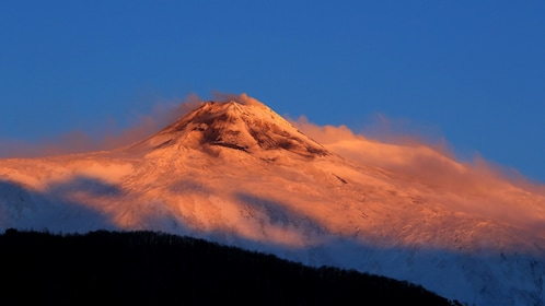 Mount Etna at sunset