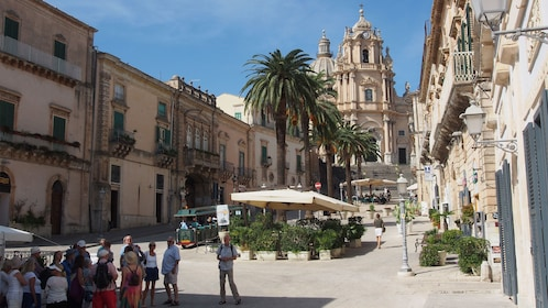 Main square and cathedral in Ragusa
