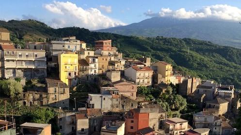Hillside buildings in Taormina