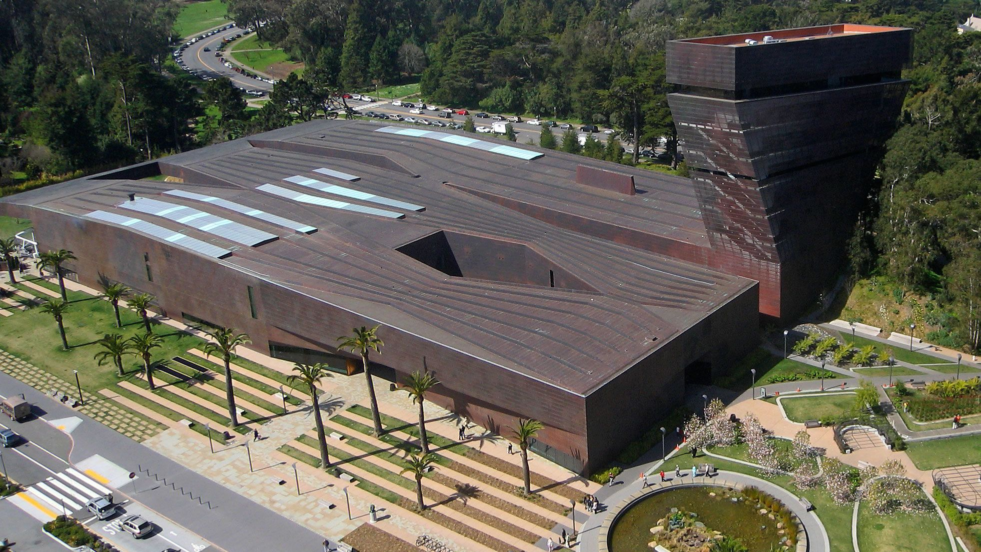 Aerial view of The de Young Museum Admission