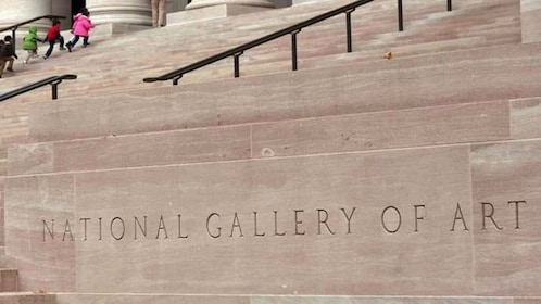 Front steps of the National Gallery of Art in Washington DC