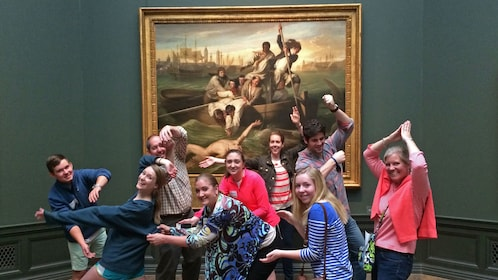 Group in the National Gallery of Art in Washington DC