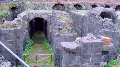 underground ruins of a roman amphitheater in Catania
