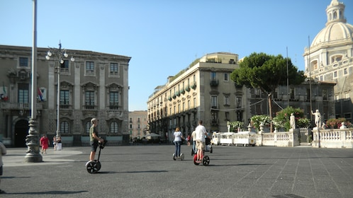 Segway group in a square in Catania