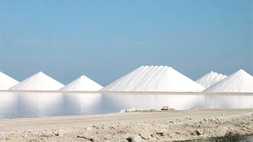 Salt pyramids in Bonaire