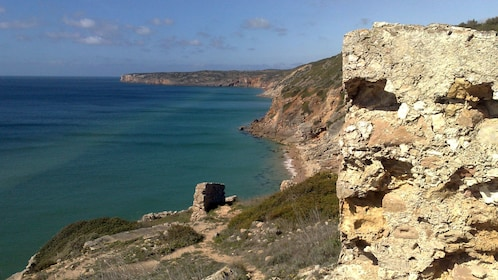 Cliffside along the coast in Algarve