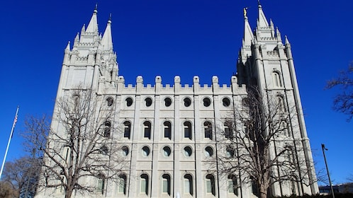 Gothic-style Mormon Temple in Salt Lake City