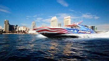 Giro turistico di Patriot Jet Boat sulla baia di San Diego