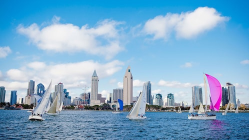 city view from cruise in san diego california