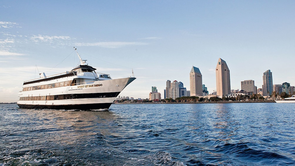 Show item 2 of 7. Ship with city view on cruise in San Diego California