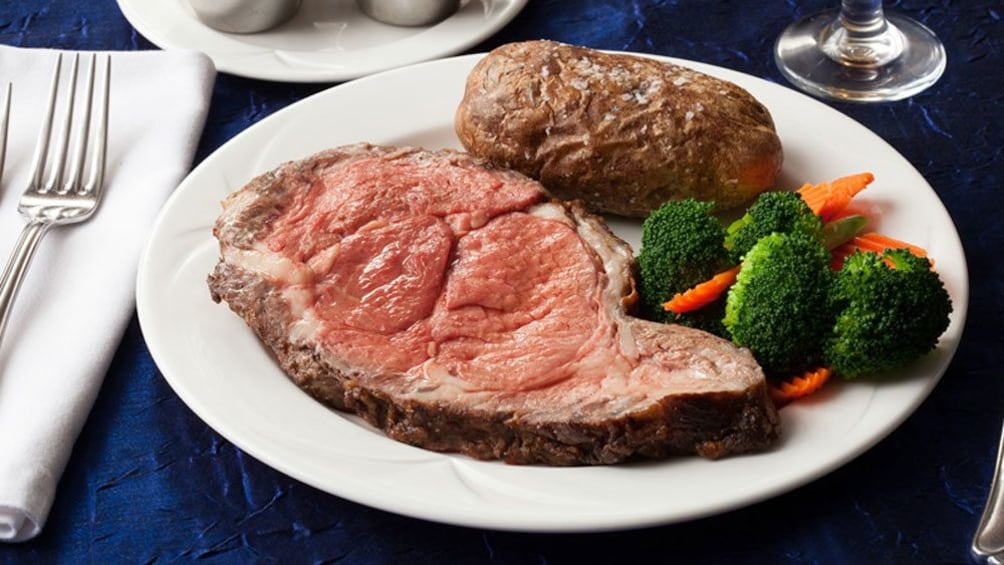 Show item 1 of 7. Steak dinner plate on cruise in San Diego California