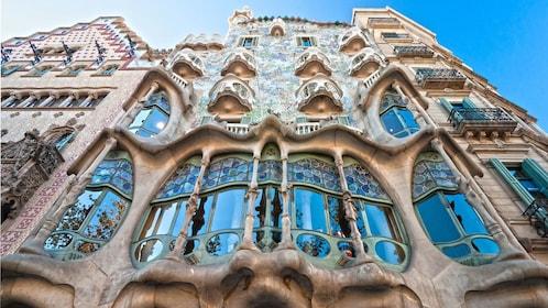 Elaborate Gaudi architecture in Barcelona
