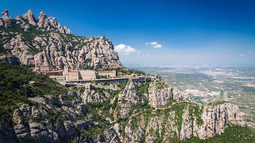 Mountainside monastery on Montserrat in Barcelona