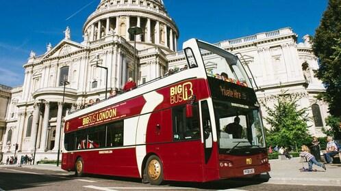 Aboard the double decker bus in London