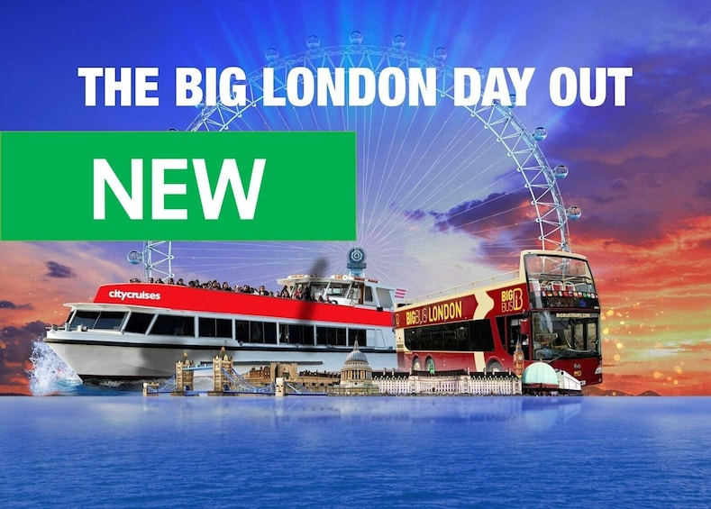 Show item 5 of 10. London Hop-On Hop-Off Tour with London Eye & Cruise Option