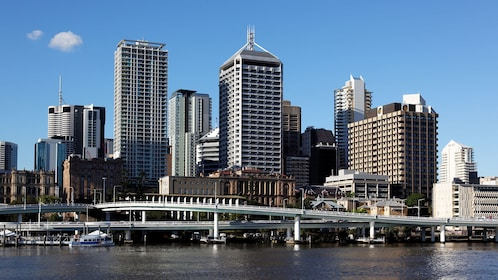 Waterfront cityscape in Brisbane