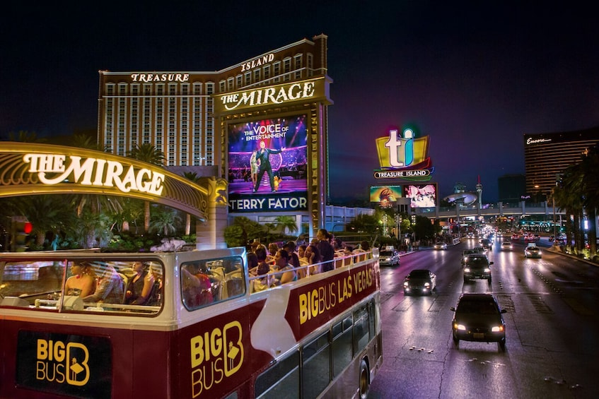 Show item 3 of 10. Las Vegas Panoramic Bus Night Tour plus Fremont Street Tour