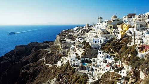 Hilltop town of Oia on the island of Santorini